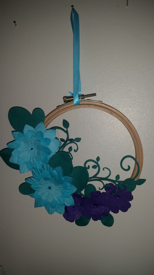 Experimenting with #paperflowers and #tapestryhoop