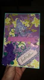 Handmade #minijournal #purples #floral