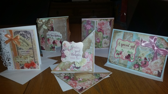 Crafters Companion Subscription Craft Box #1 Cards 1 - 5