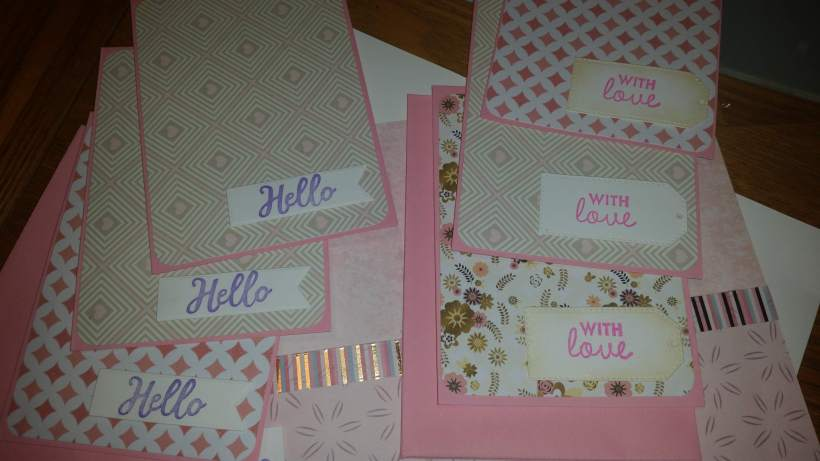 gorgeous #abstract #pinks design pack of 6 #notelets #papercrafting