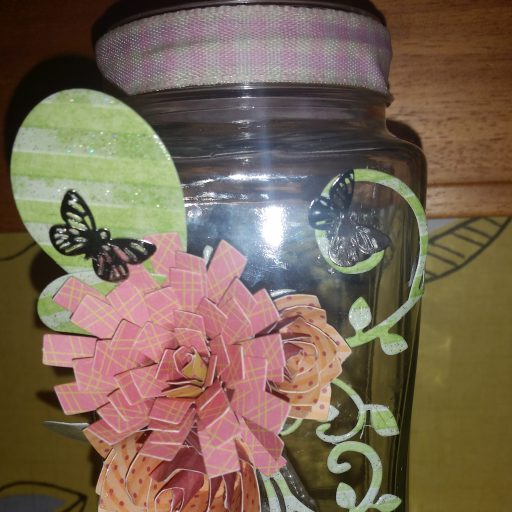 #Upcycled #CoffeeJar with fairy lights