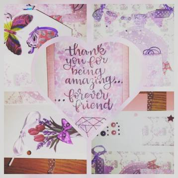 #Friendship #loadedflipalbumn #rak #pinks #purples #papercrafter