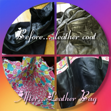 Upcycled Leather Jacket I was gifted #upcycle #resuse #leatherbag