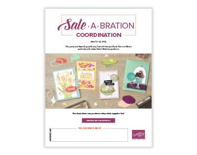 Sneak peek of second release FREE sale-a-bration items