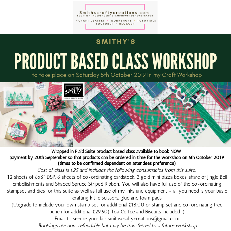 Product Suite Based Class - 5th October Wrapped in Plaid